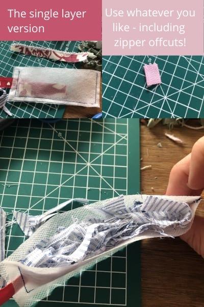 scrap fabric bookmark tutorial