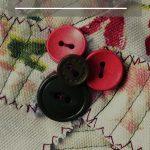 scrap fabric flowers pin