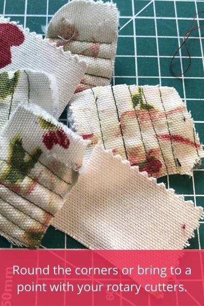 scrap fabric flower petals