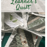 quilt as you go learner's quilt