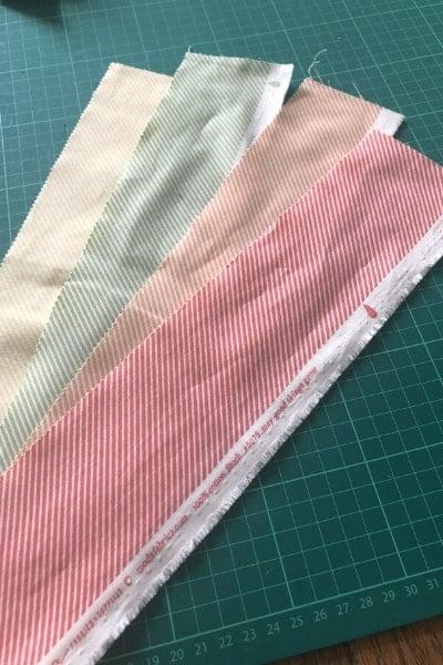garden variety fabric strips candy stripe