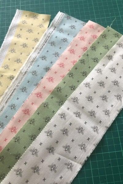 garden variety fabric strips queen bee
