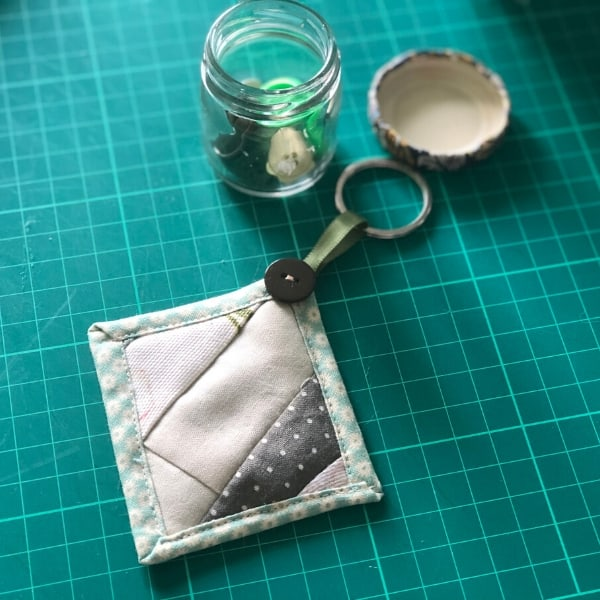 quilt as you go beginner keychain project