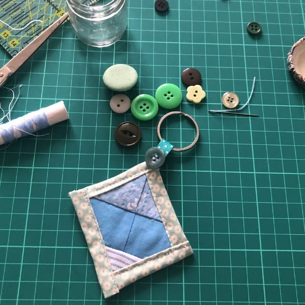 quilt as you go beginner project - keychain