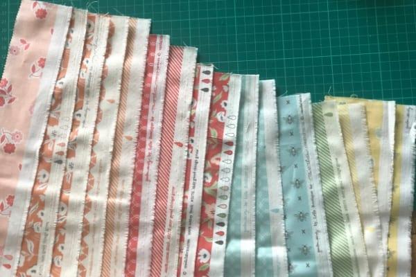 moda scrap bag selvedge edges