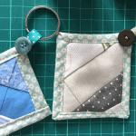 quilt as you go keychain idea