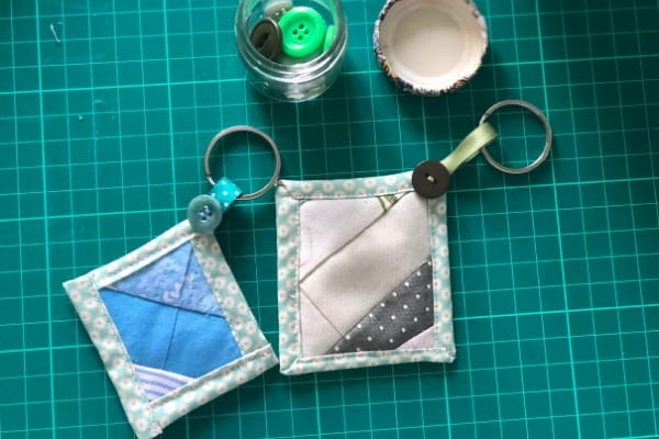 quilt as you go beginner project keychains