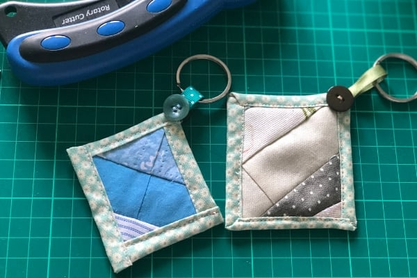 quilt as you go keychains