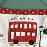 easy kids wall hanging from a fabric remant