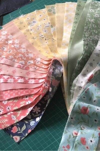 moda scrap bag turned scrappy quilt