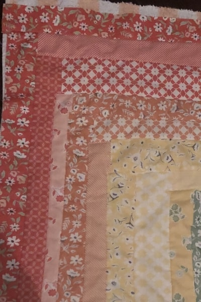 my first quilt - untidy corners