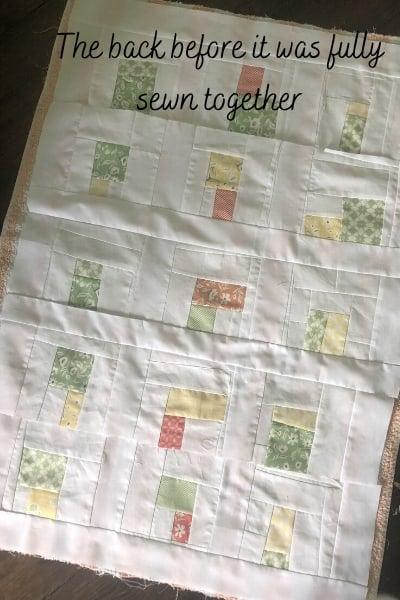 quilt back from improv blocks
