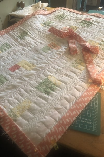 quilt binding - my first quilt