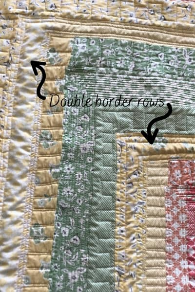 quilting double border rows