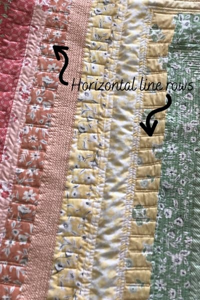 quilting horizontal lines