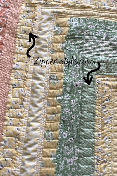 quilting zipper design