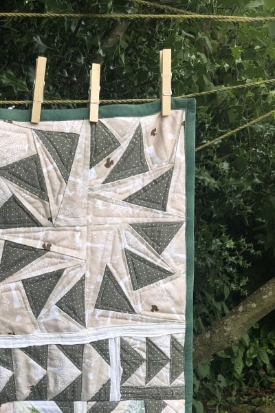 learning to quilt - binding