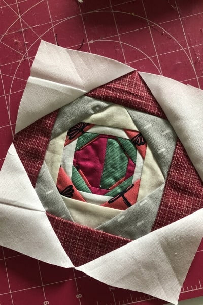 exploding block for quilt back