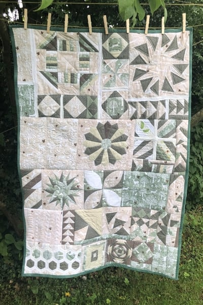 finished quilt - learning to quilt