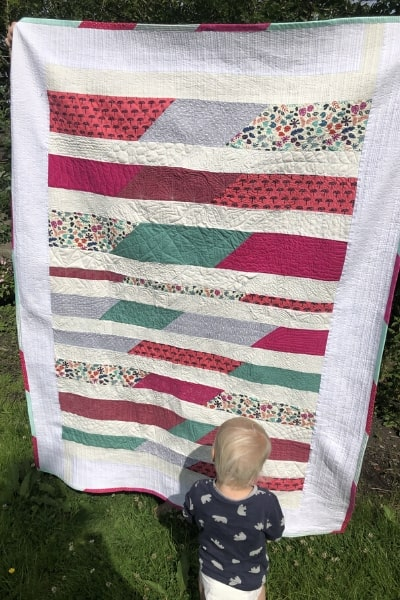 finished scrappy quilt
