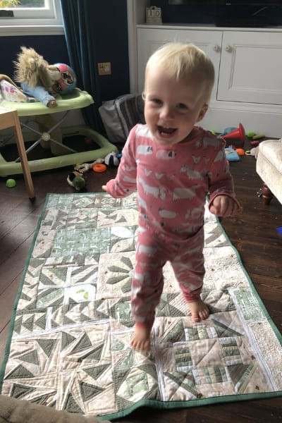 learning to quilt - finished quilt