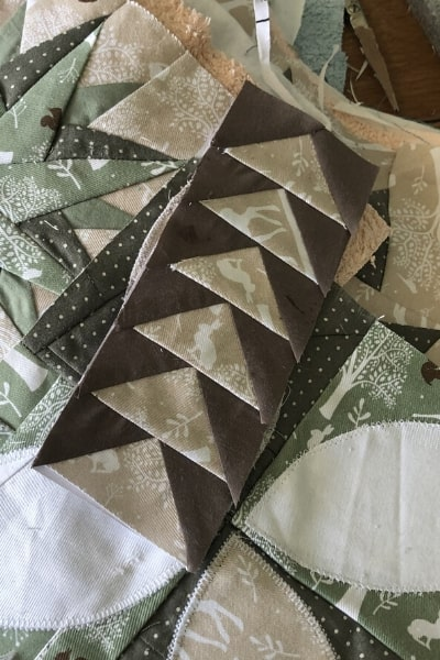 paper pieced flying geese