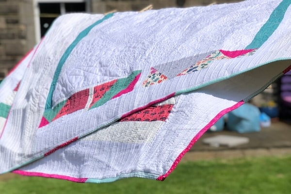 quilt drying