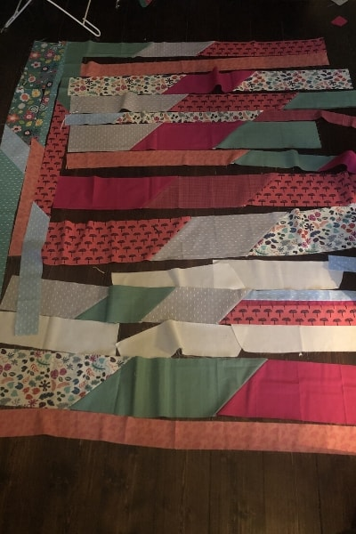 scrappy quilt - choosing colours