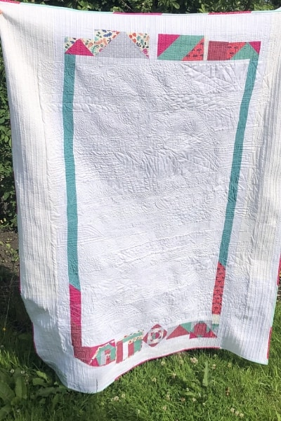 scrappy quilt back
