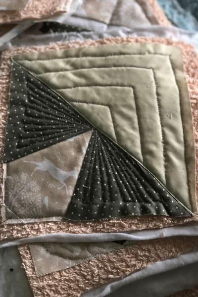 scrappy triangle block