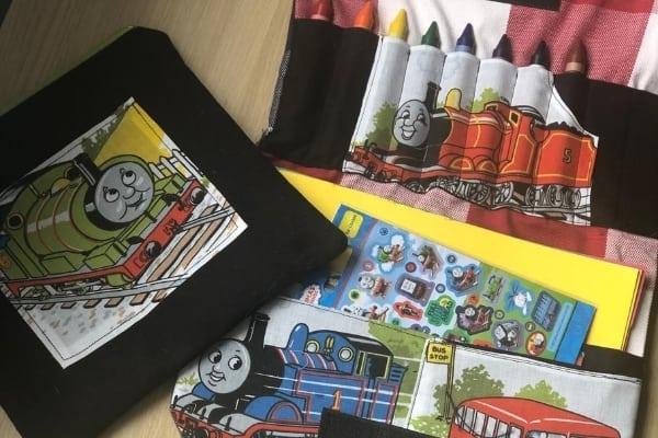 kids art portfolio from scrap fabric