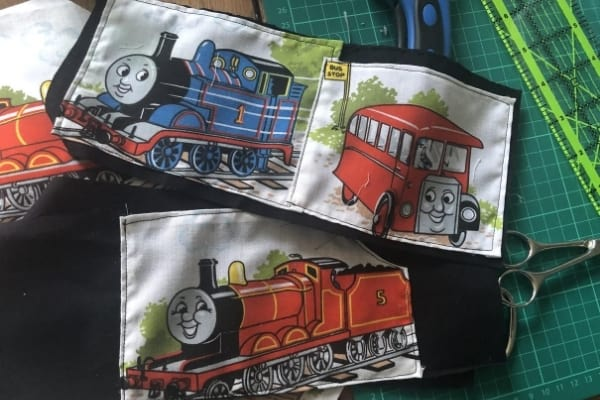 kids art portfolio thomas the tank engine fabric