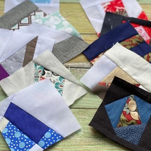scrap fabric quilt squares