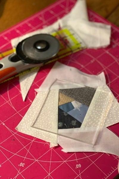 scrappy improv quilt block