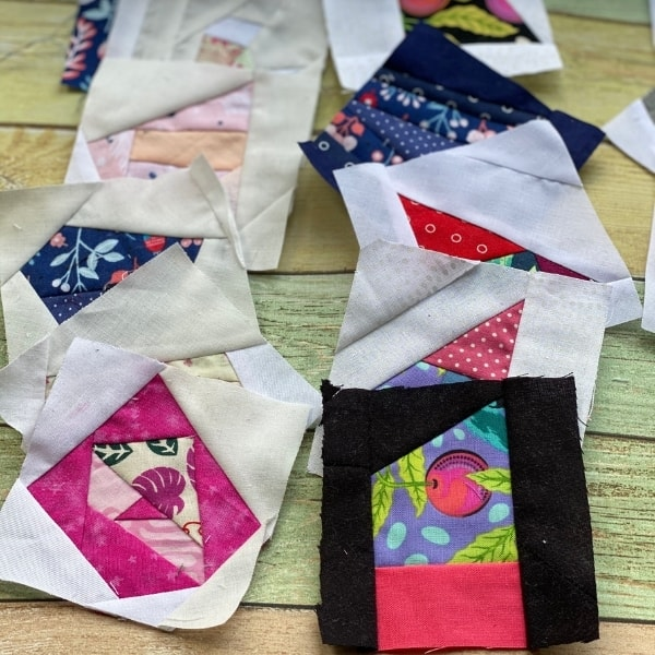 scrappy improv quilt squares