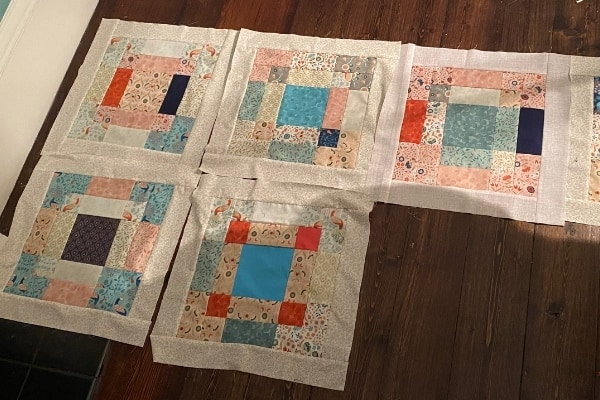 disapearring 9 patch quilt blocks