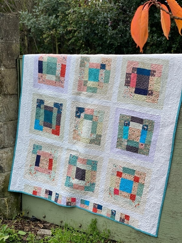 disappearing 9 patch quilt - scrappy