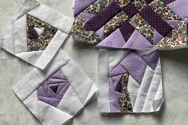 scrappy mini quilt blocks