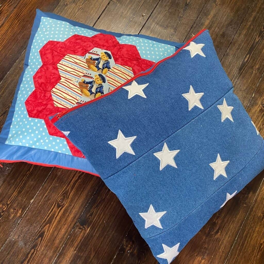 cushion cover from an orphan block