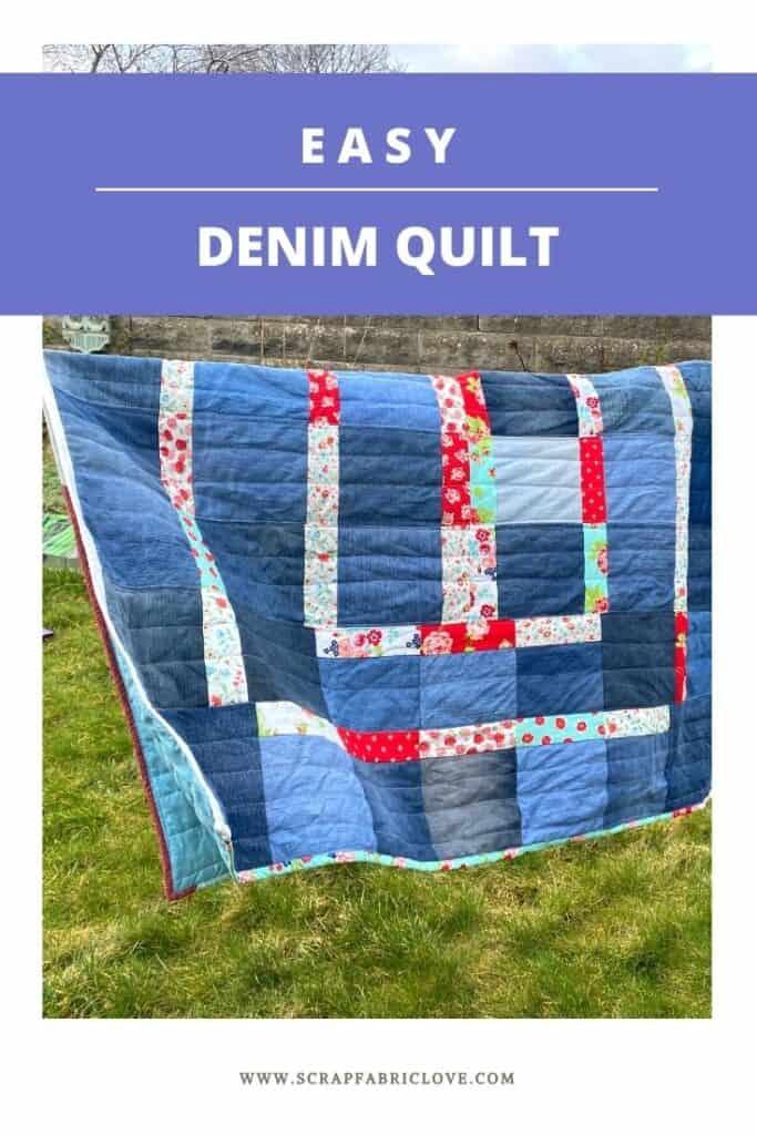 easy denim quilt
