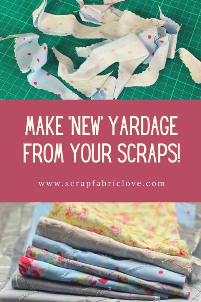 make fabric from scraps