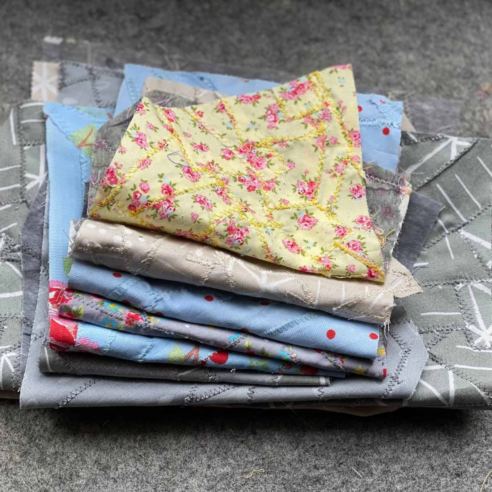 make fabric from your scraps
