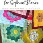 cushion cover from orphan quilt blocks