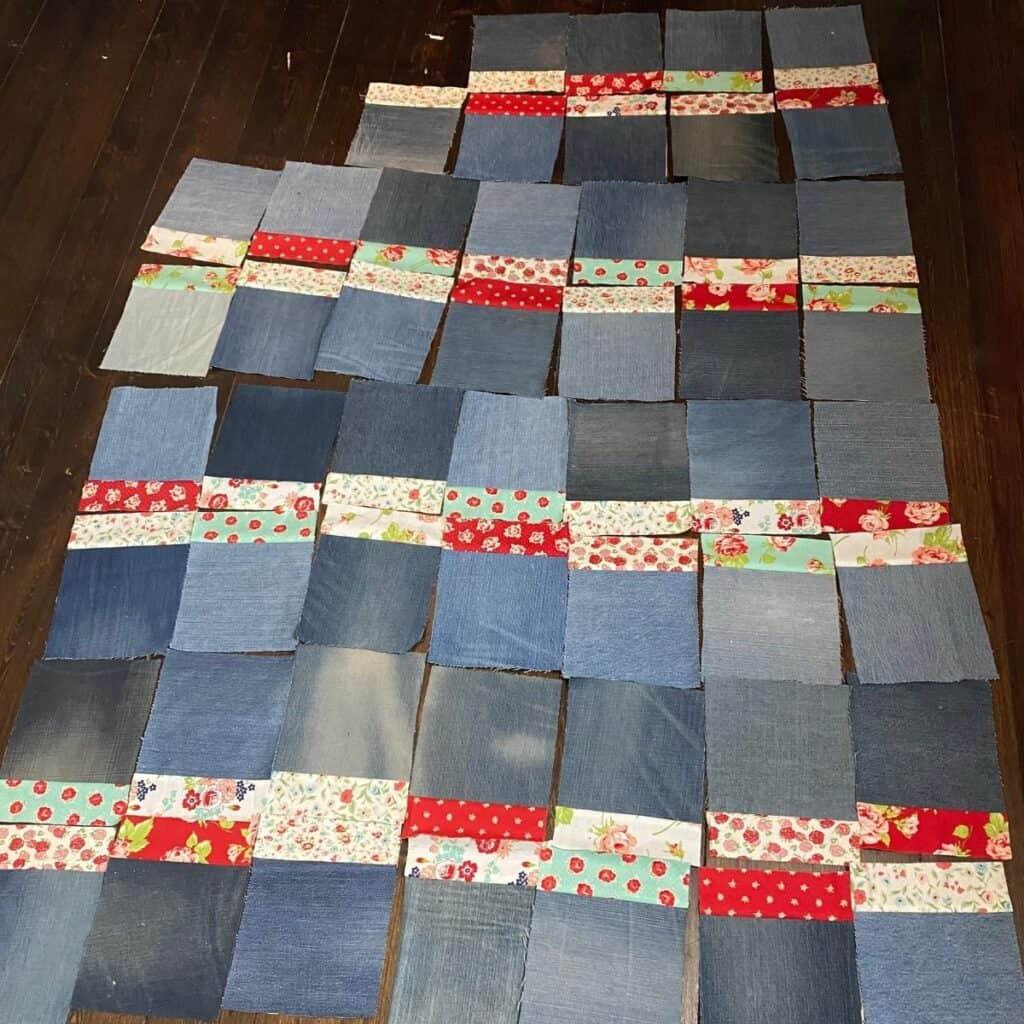quick denim quilt