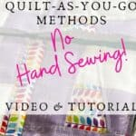 quilt as you go no handsewing