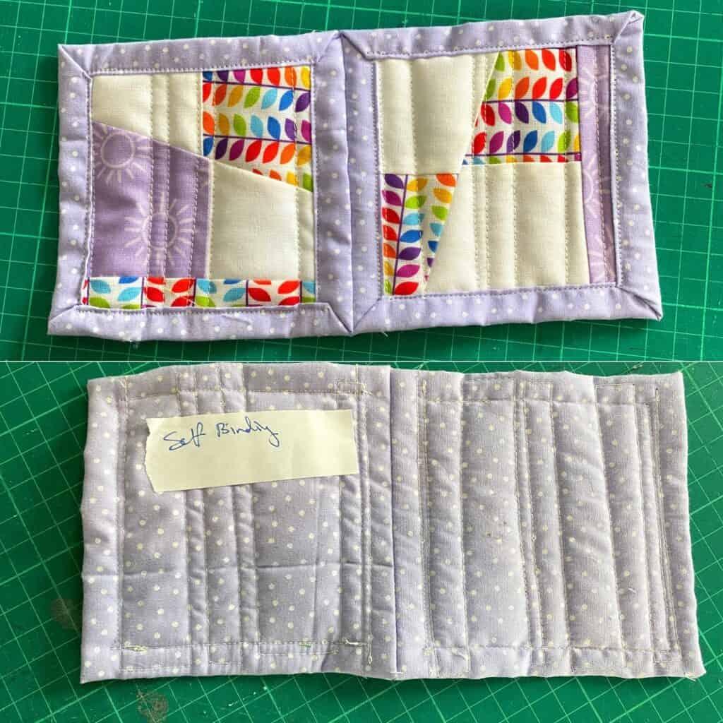 quilt as you go self binding