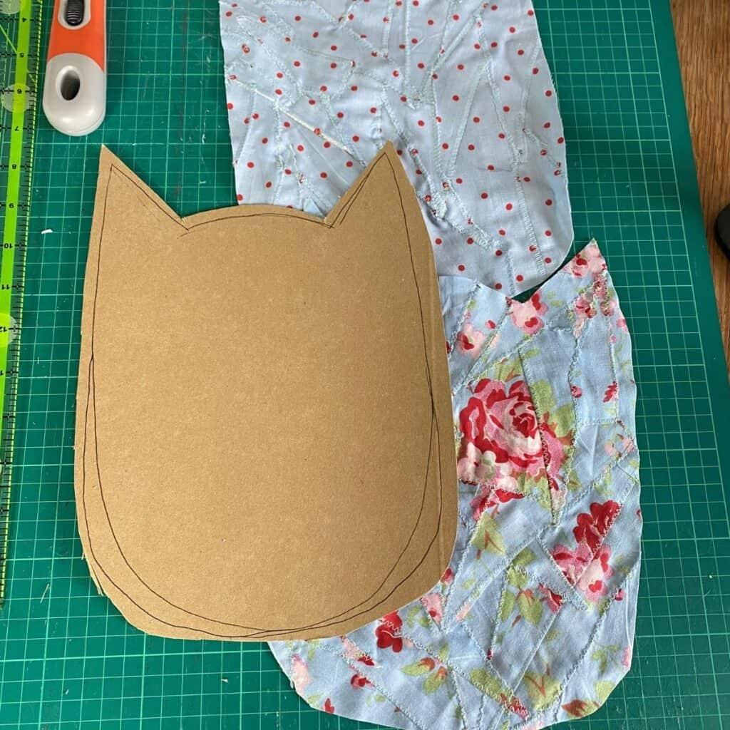 scrap fabric owl soft toy