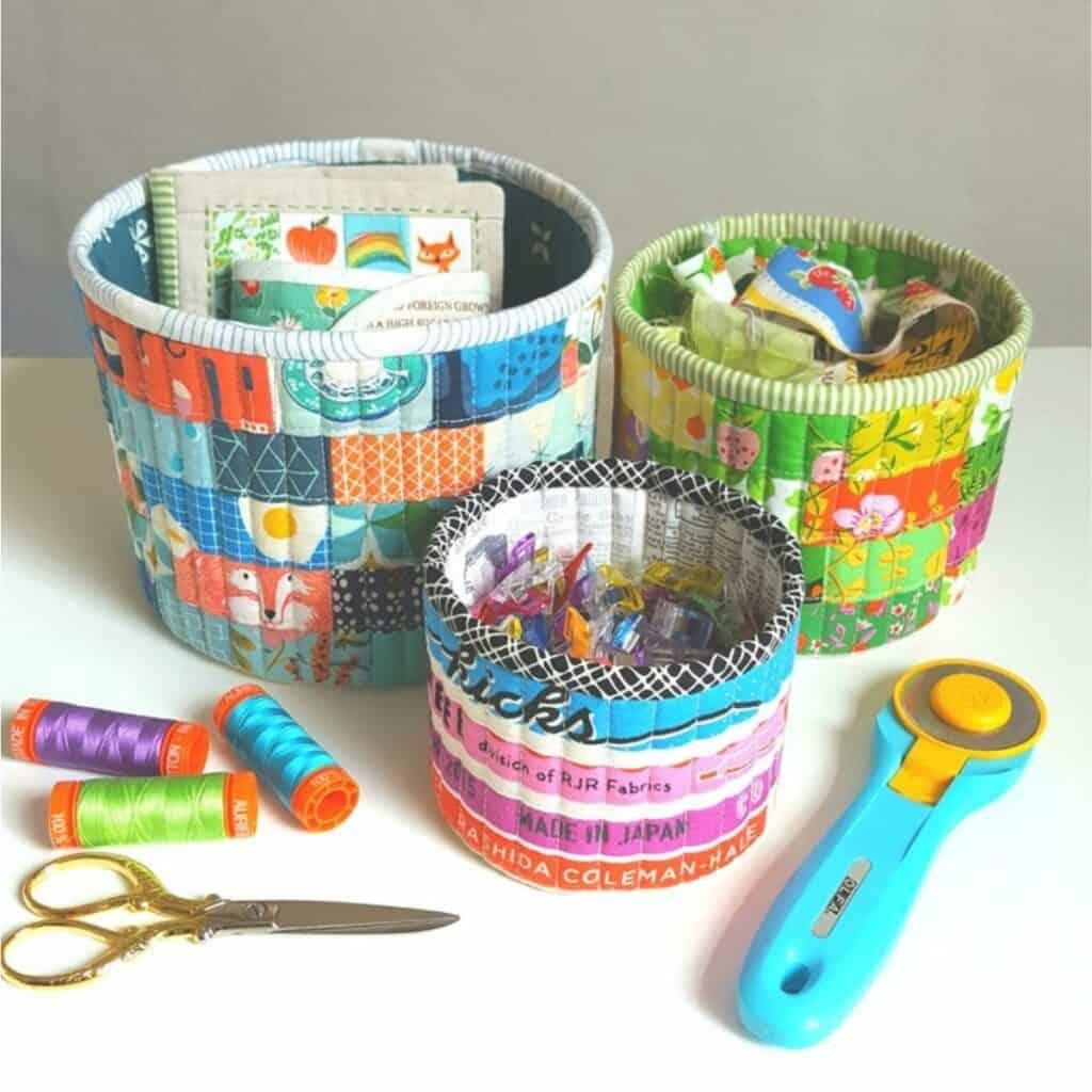 scrap fabric storage baskets
