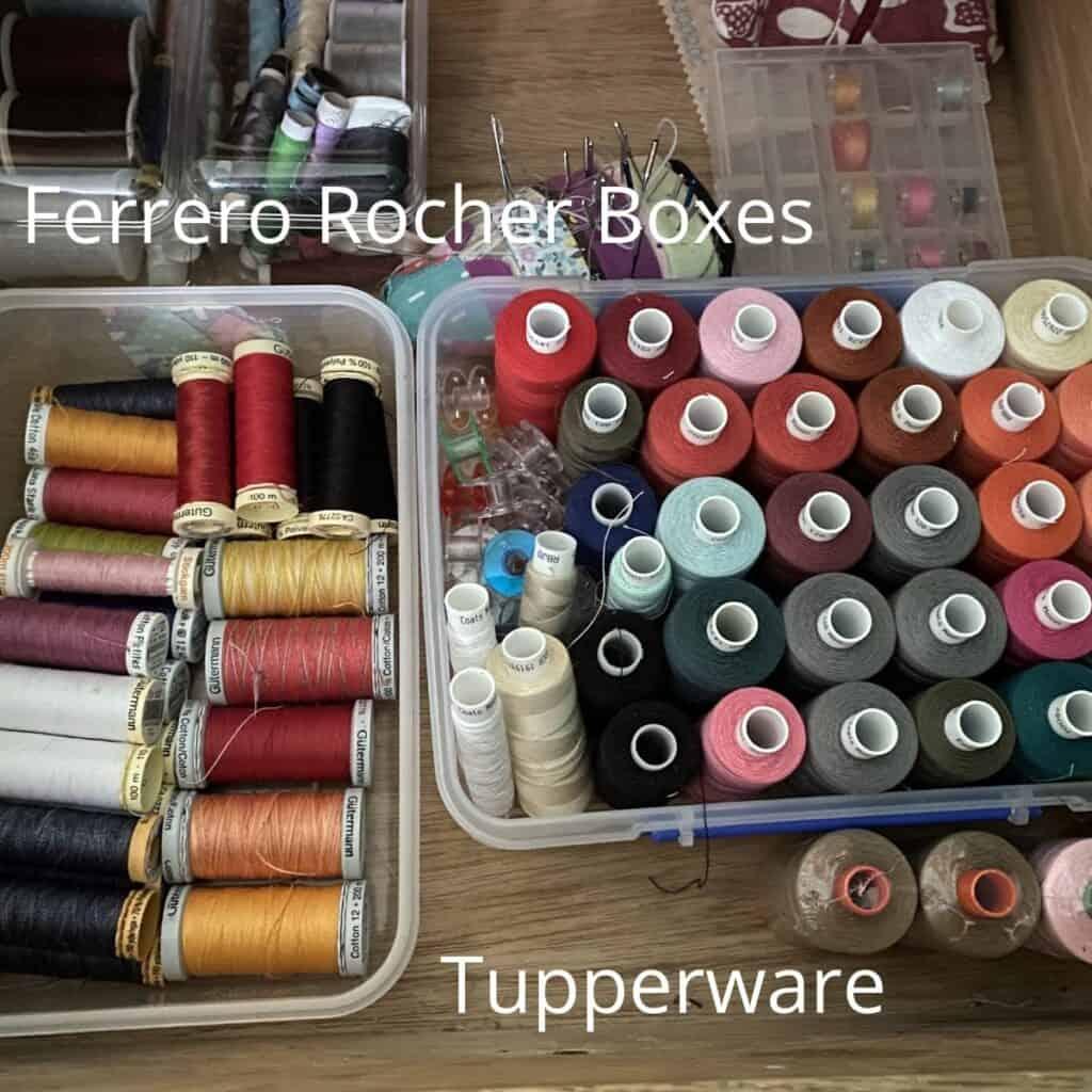 sewing room organization