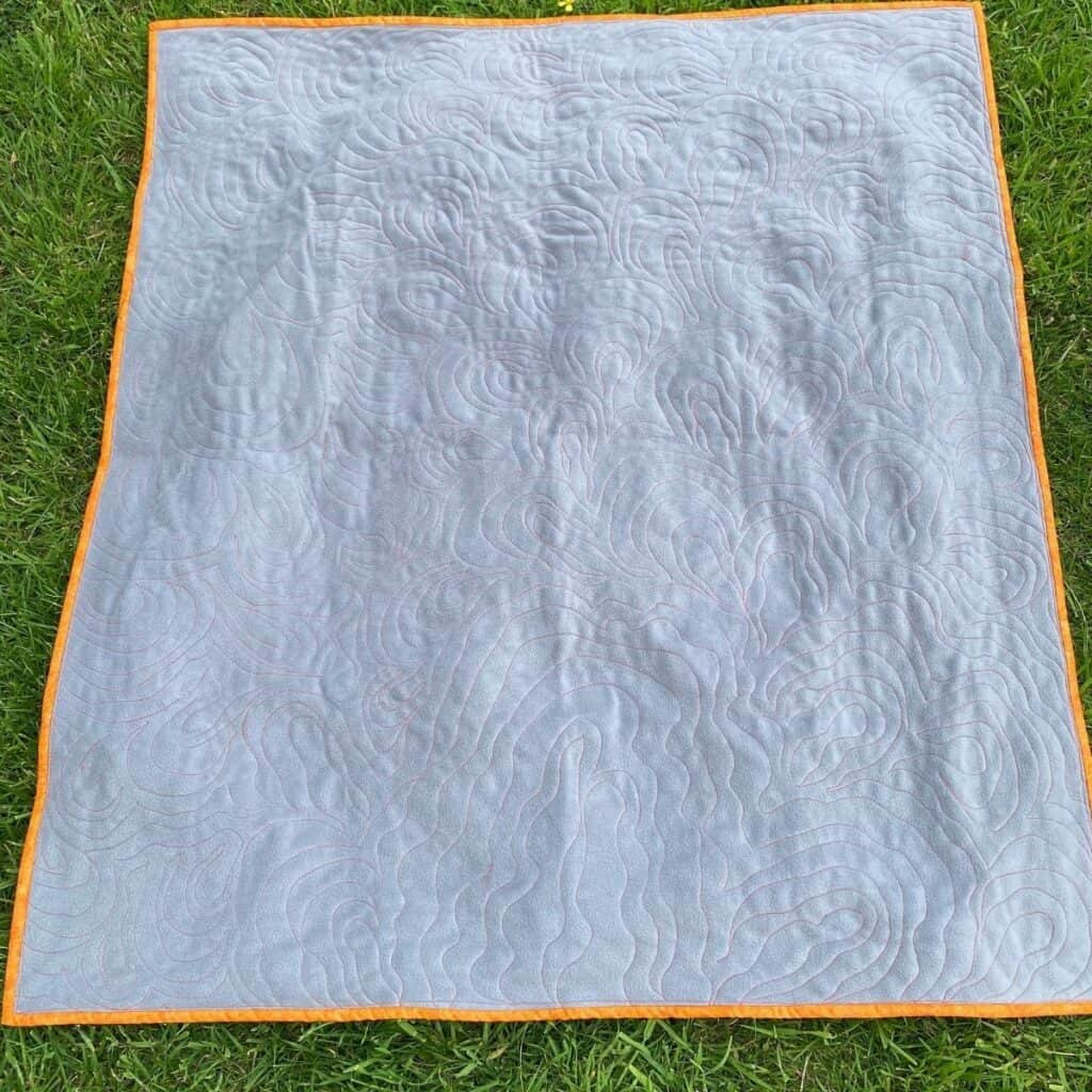 using fleece for quilt back baby quilt